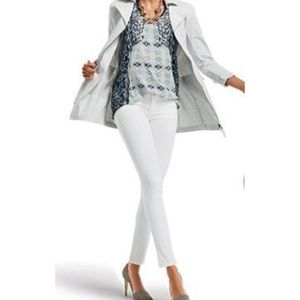 CAbi White skinny jeans dial 219 2 denim
